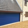Ridgeway Garage Doors & Repairs - Hormann LPU40 M ribbed Sectional Garge Door in Sapphire Blue