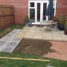 Steve Deprez Builders - During extension to patio.