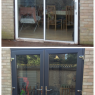 Custom Choice Windows Ltd - Old Aluminium door upgraded to upvc (Anthracite grey)