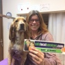 Happy K9 Dog Grooming - Sue with her dog Indie