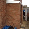 Crescent Carpentry & Building Ltd - Porch extension/polycarbonate roof in progress Autumn 2013