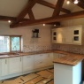 Crescent Carpentry & Building Ltd - Nice oak kitchen in barn conversion south cambs