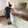 Crescent Carpentry & Building Ltd - Connor gives the oak w/tops a coat of oil
