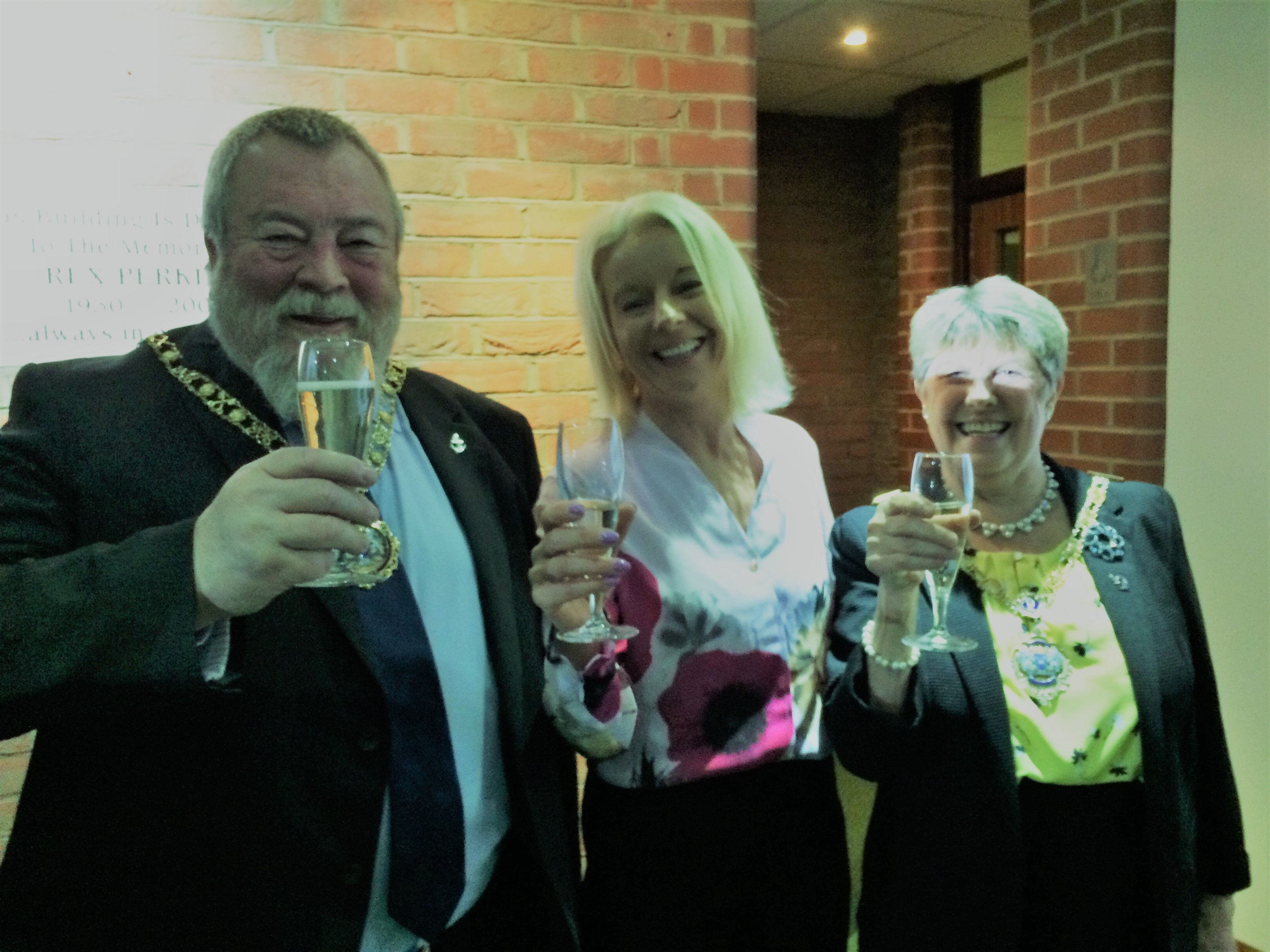 Mayor of Peterborough and Eileen Le Voi